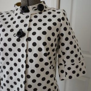 BRAND NEW JCrew Polka Dot Swing Coat with TAGS
